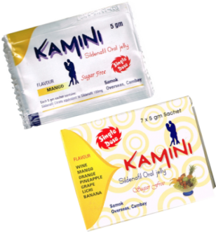 Kamini Sildenafil Oral Jelly UK 100 mg (Sugar free)