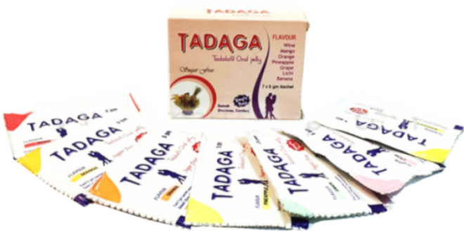 Tadaga Tadalafil Oral Jelly 20 mg