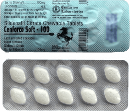 Cenforce Sildenafil Soft 100 mg pastillas