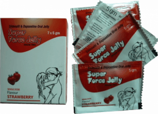 Super Force Jelly 160 mg mansikan makuinen