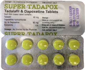 Super Tadapox (40mg Tadalafil & 60mg Dapoxetin) Tablett
